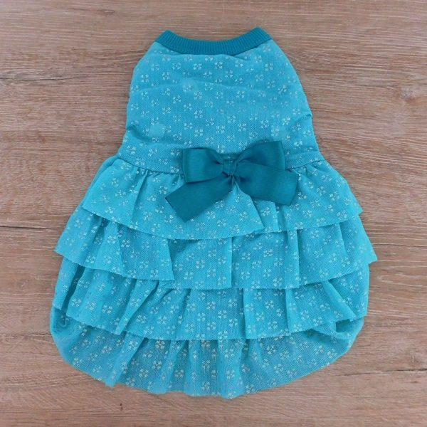 vestido en boleros en tull elastico con brillo
