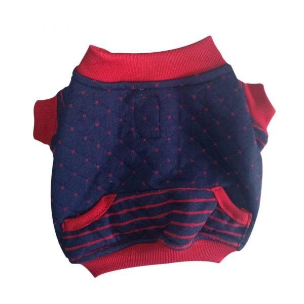 Saco deportivo para perrito en rojo y azul