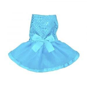 Vestido de fiesta para perrita azul