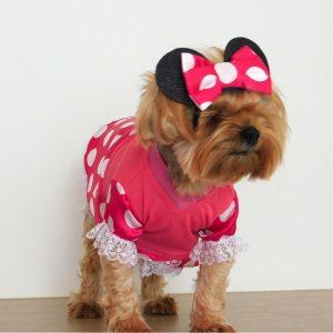 Disfraz de Minnie Mouse para perrita