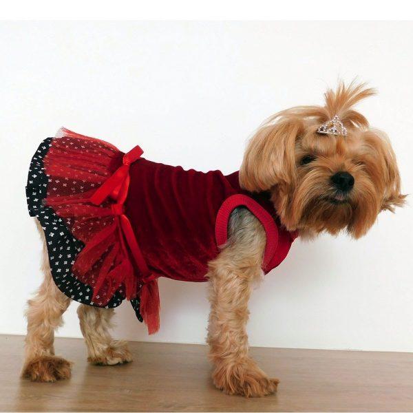 Vestido estilo navidad para perrita con tutu