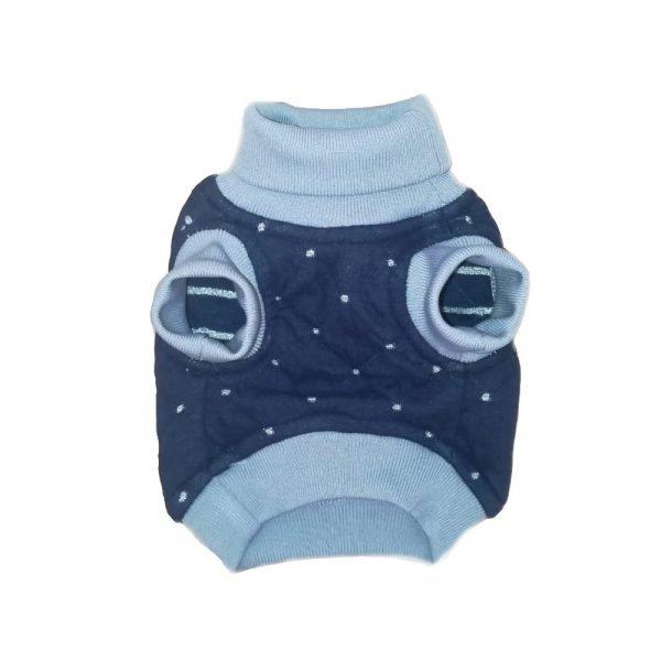 Saco deportivo para perrito en azul y gris