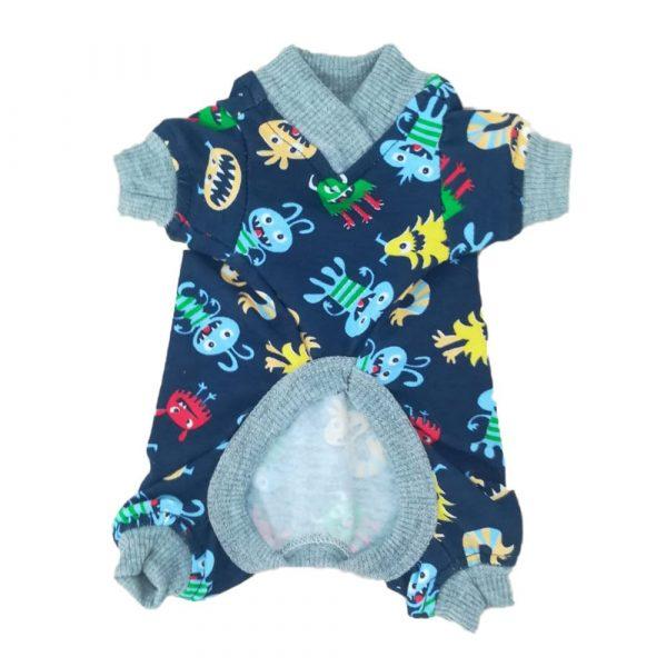 pijama perro estampado azul